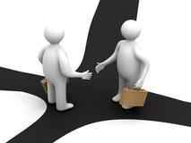 hommes d'affaires contactant deux Image libre de droits