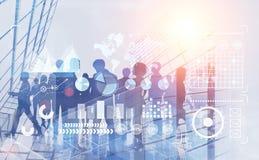 Hommes d'affaires dans la ville, infographics photo stock