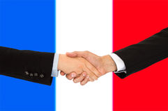 Hommes d'affaires dans les Frances Photographie stock libre de droits