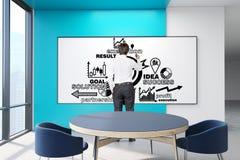 Hommes d'affaires dans un bureau blanc Images libres de droits