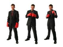 Hommes d'affaires de boxe Images stock