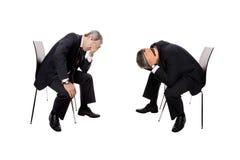 hommes d'affaires en faillite photo libre de droits