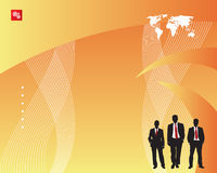 Hommes d'affaires et fond illustration libre de droits