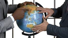 Hommes d'affaires et globe clips vidéos