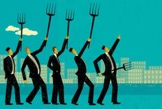 Hommes d'affaires fâchés Images libres de droits