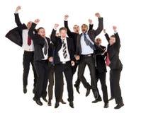Hommes d'affaires heureux images stock