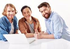 Hommes d'affaires heureux Photos libres de droits