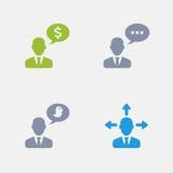 Hommes d'affaires parlants - icônes de granit illustration libre de droits