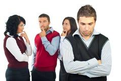 Hommes d'affaires pensant aux solutions Images libres de droits