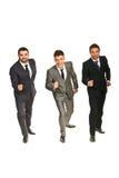 Hommes d'affaires prêts pour la concurrence de début Images libres de droits