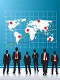 Hommes d'affaires réalisant des placements illustration libre de droits