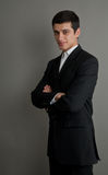 Hommes d'affaires sérieux dans un procès d'affaires Photo stock