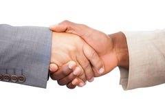 Hommes d'affaires se serrant la main Photographie stock