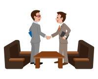 Hommes d'affaires se serrant la main illustration stock