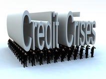 Hommes d'affaires sous les crises de crédit Images stock