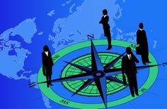 Hommes d'affaires sur le compas illustration de vecteur