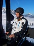 Hommes dans la cabine de ski Photos libres de droits