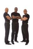 Hommes dans le noir Image stock