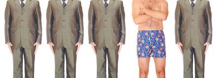 Hommes dans les costumes Image libre de droits