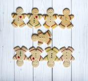 Hommes de biscuit de pain d'épice photographie stock
