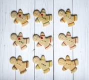 Hommes de biscuit de pain d'épice image libre de droits
