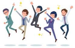 Hommes de bureau de scene_jump de bureau illustration libre de droits