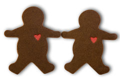Hommes de chocolat dans l'amour Photo stock