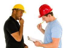 Hommes de construction Photographie stock