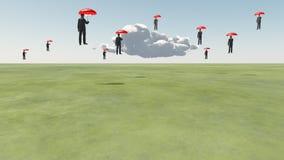 Hommes de flottement surréalistes Photographie stock libre de droits