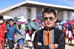 Hommes de Hmong avec le habillage de tradition photo stock