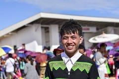 Hommes de Hmong avec le habillage de tradition image libre de droits