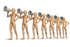 Hommes de mégaphone illustration stock