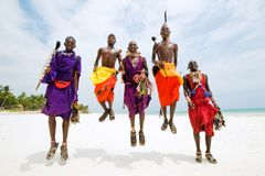 Hommes de Maasai Photo stock