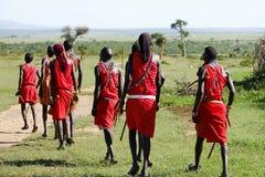 Hommes de masai - Kenya image libre de droits