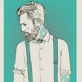 Hommes de mode de hippie illustration de vecteur