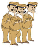 Hommes de police Photo libre de droits
