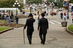 Hommes de premier chapeau Image libre de droits