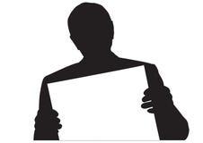 Hommes de silhouette Image stock