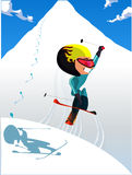 Hommes de ski Photos libres de droits