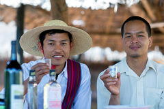 Hommes de tribu d'Intha, Myanmar Photos libres de droits