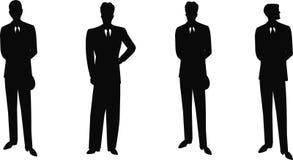 Hommes de vintage en silhouette de costumes Photos libres de droits