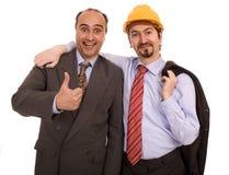 hommes deux de construction d'affaires Photographie stock libre de droits
