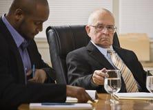 hommes deux de réunion d'affaires Image libre de droits