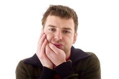 Hommes en douleur de dents Photos stock