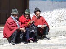 3 hommes en Equateur Photo libre de droits
