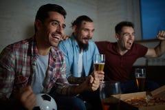 Hommes enthousiastes Images libres de droits