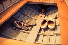 Hommes et chaussures de women Images stock