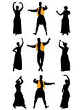 Hommes et danseuses de femmes Image libre de droits