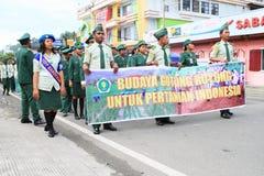 Hommes et femmes de culture de groupe de coopération mutuelle pour l'amitié Indonésie Image libre de droits