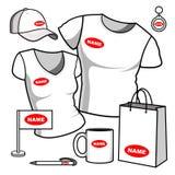 Hommes et femmes de T-shirt Photographie stock libre de droits